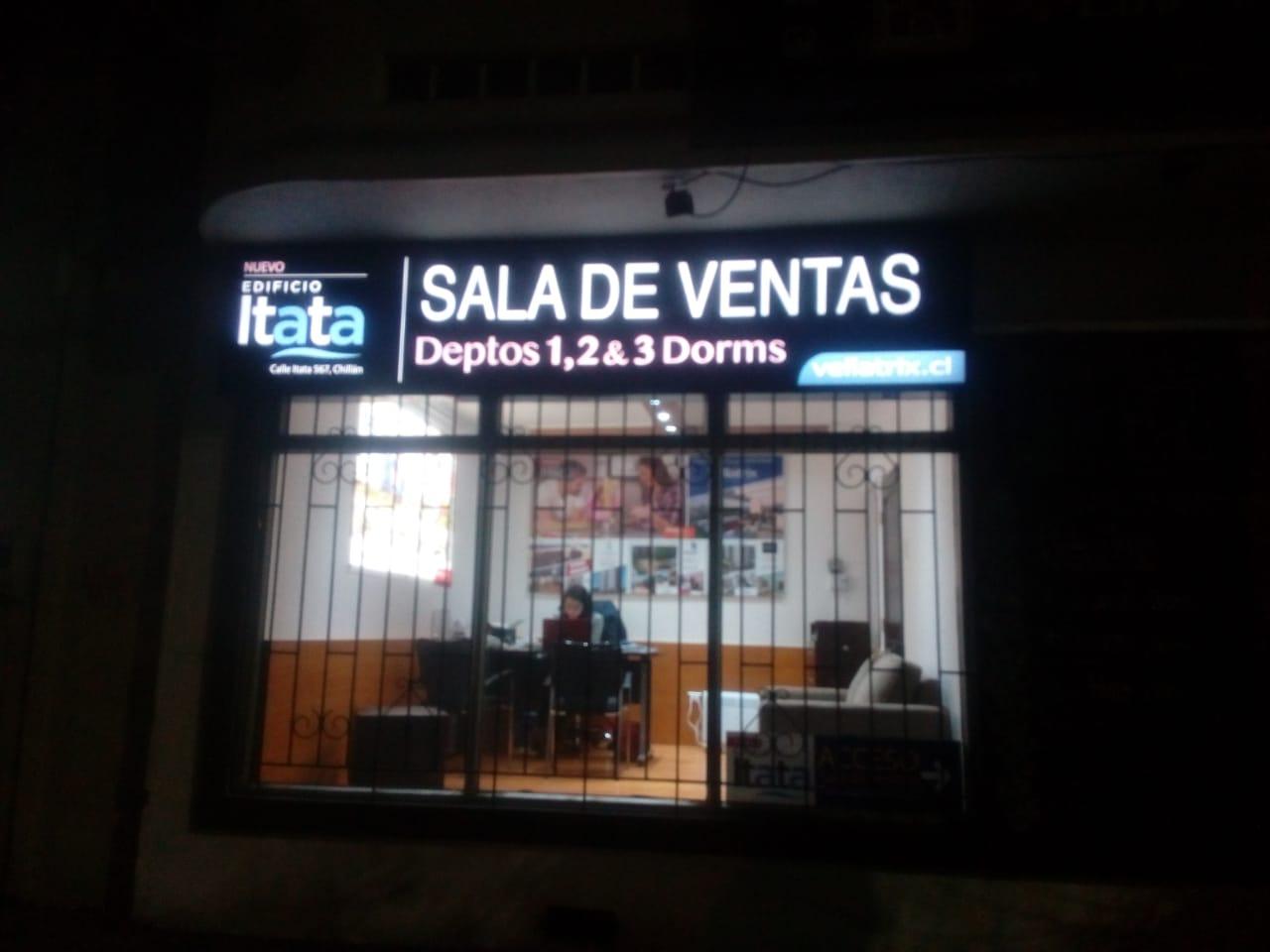 DPImpress - Letreros Luminosos Edificio Itata Concepción