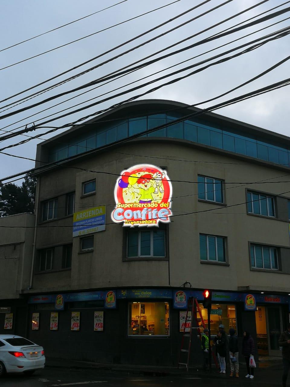 DPImpress - Letreros Luminosos Supermercado del Confite Concepción