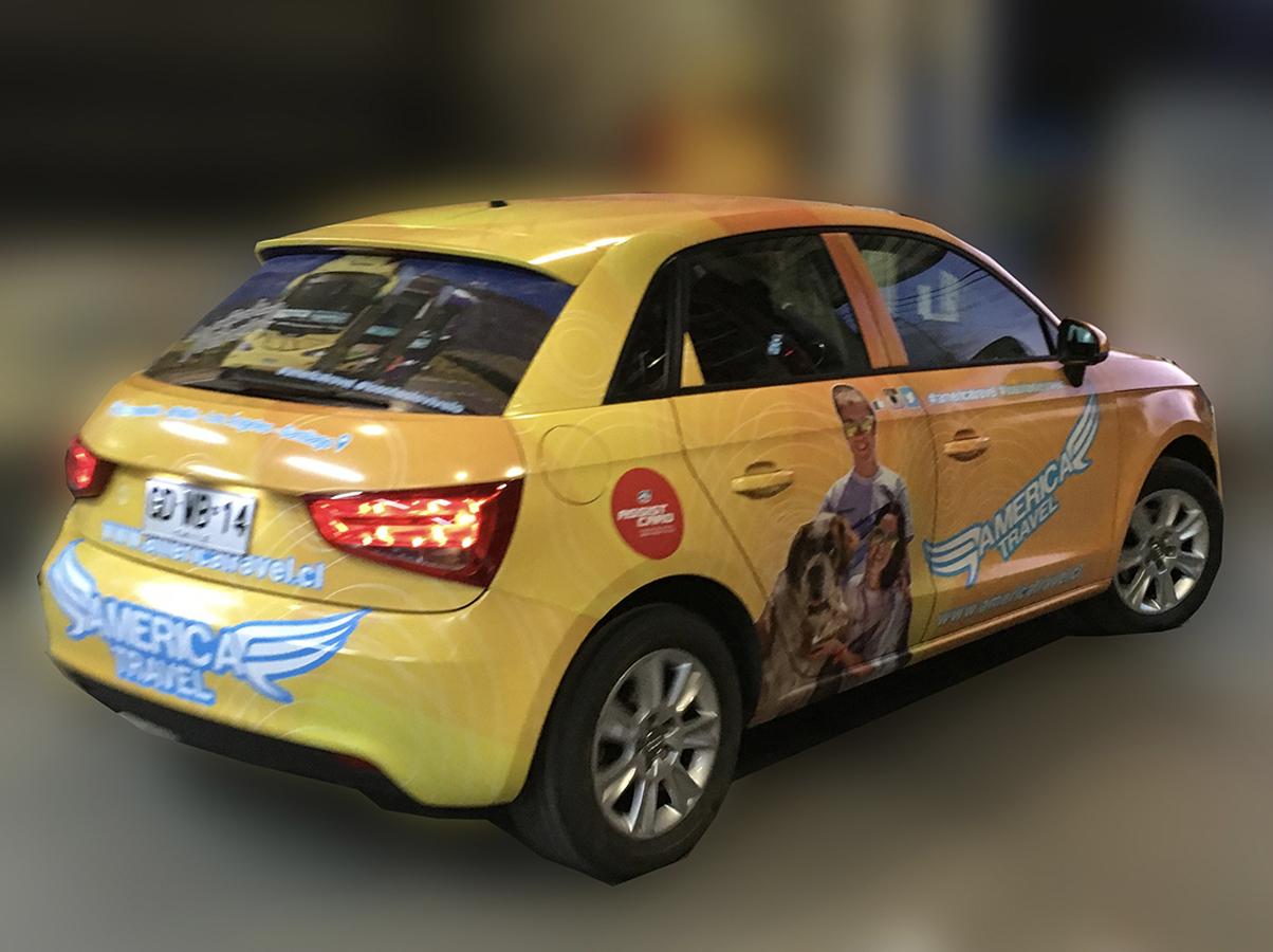 DPImpress - Adhesivo vehicular America Travel Concepción