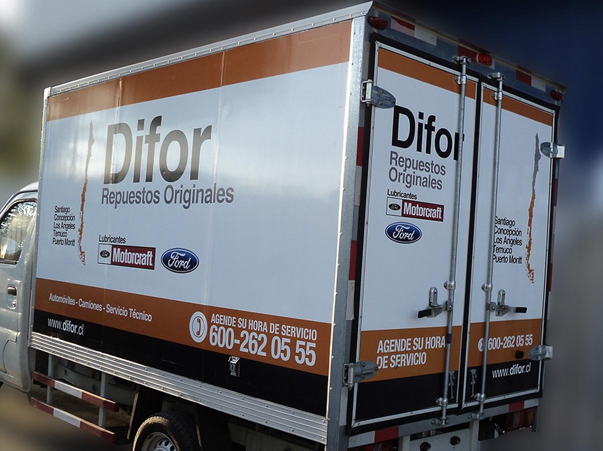 DPImpress - Adhesivo vehicular Difor Concepción