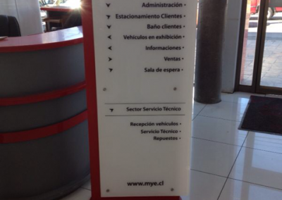 Dpimpress - Señaléticas totem de información Concepción