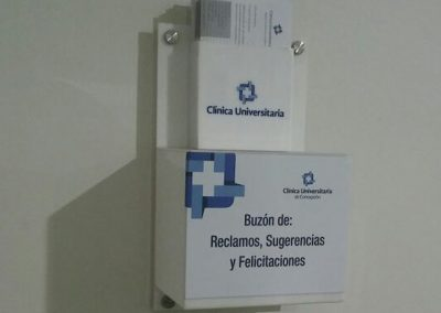 Dpimpress - Acrílicos Clinica Universitaria Concepción